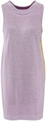 Missoni Metallic Two-tone Silk-blend Mini Dress