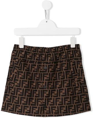 Fendi logo straight skirt