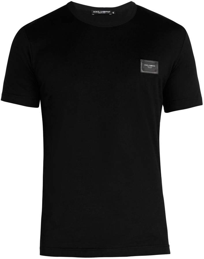 Dolce & Gabbana Crew-neck logo-patch T-shirt