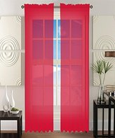 """Elegant Comfort 2-Piece SHEER Window CURTAIN/PANEL with 2"""" ROD POCKET - Window Curtains 60"""" w X 84"""" Length - Red"""