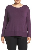 Eileen Fisher Scoop Neck Stretch Knit Top (Plus Size)