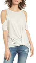 BP Women's Twist Front Cold Shoulder Tee