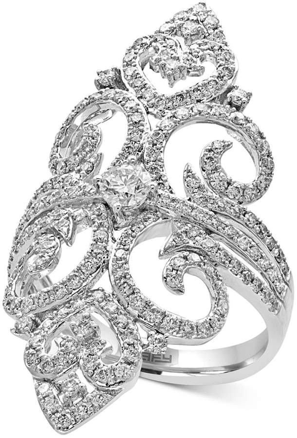 Effy Pavandeacute; Classica by EFFYandreg; Diamond Filigree Ring (1-1/4 ct. t.w.) in 14k White Gold