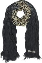 Zadig & Voltaire Delta Grunge Leopard Print Wool Blend Wrap