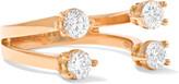 Delfina Delettrez 18-karat Rose Gold Diamond Phalanx Ring - one size