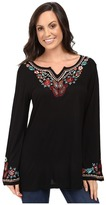 Scully Honey Creek Cartrina Embroidered Trim Tunic