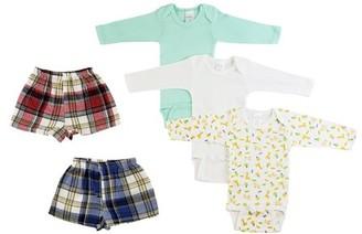 Bambini Infant Boys Long Sleeve Onezies and Boxer Shorts