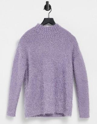 BB Dakota flunnel neck sweater in lilac