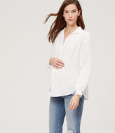 LOFT Maternity Shirred Sonnet Blouse