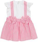 Il Gufo Cotton Jersey & Striped Oxford Dress