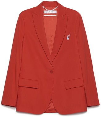 Off-White Single Breasted Blazer