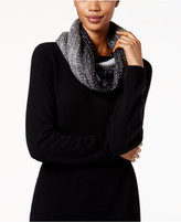 Betsey Johnson Crystal Knit Infinity Scarf