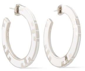 Tory Burch Silver-tone Enamel Earrings