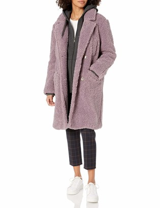 ASTR the Label Women's Freddie Faux Fur Teddy Long Coat