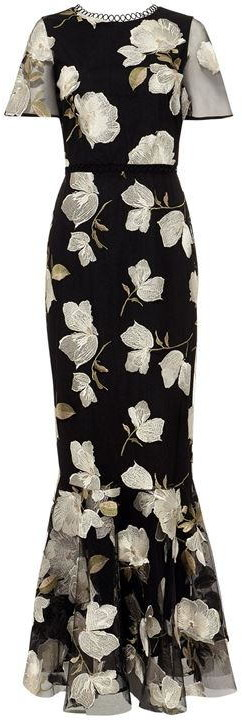 Phase Eight Christine Embroidered Flower Dress