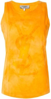 Yves Saint Laurent Pre Owned Tonal Logo Tank Top