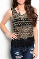 Adore Clothes & More Gold Tank Top