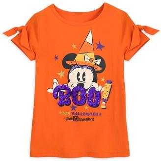 Disney Minnie Mouse Halloween Reversible Sequin T-Shirt for Girls Walt World