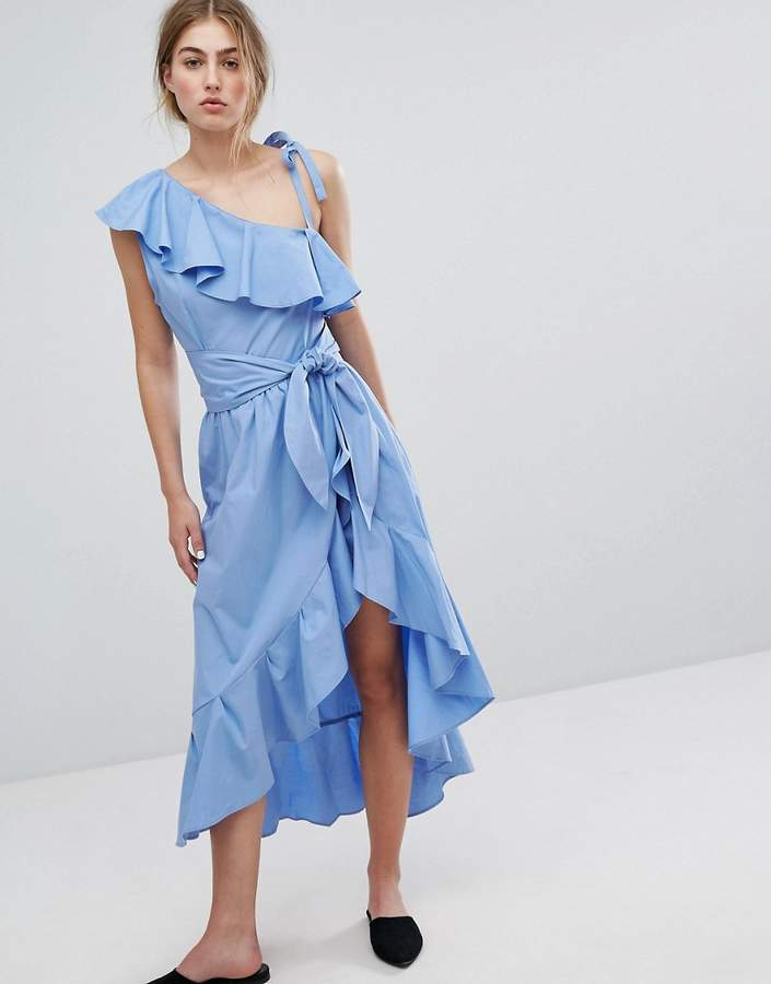 Style Mafia Cold Shoulder Ruffle Dress