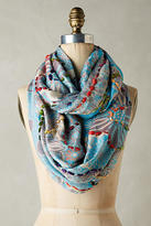 Anthropologie Embroidered Arabesque Infinity Scarf