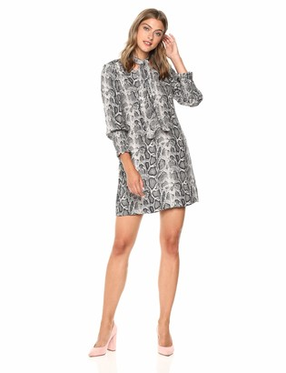 Rebecca Taylor Women's Long Sleeve Snake Tie Dress