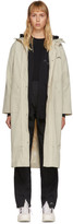 A-Cold-Wall* A Cold Wall* Beige Contrast Stitch Windbreaker Coat