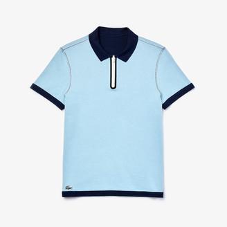 Lacoste Men's Zippered Collar Regular Fit Reversible Pique Polo