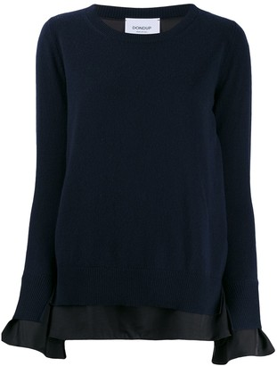 Dondup layered crew neck jumper