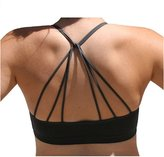 Anémone Blue-city Women's Sexy Strappy Cutout Padded Bustier Bralette (O/S, )
