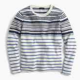 J.Crew Lightweight wool Fair Isle striped sweater