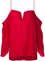 Nicole Miller cut-out draped blouse