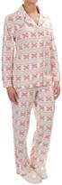 Company Ellen Tracy Classic Microfleece Pajamas - Long Sleeve (For Women)