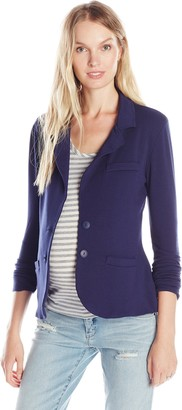 Tart Collections Women's Maternity Essential Long Sleeve Roached Side Blazer