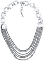 Nine West Silver-Tone Multi-Row Collar Necklace