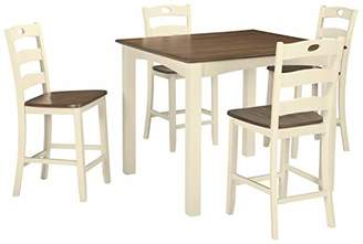 Signature Design by Ashley Woodanville Square Counter Table Set - Set of 5 - Casual Style
