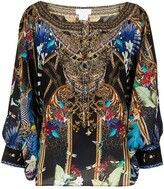Thumbnail for your product : Camilla Embroidered Shift Silk Blouse