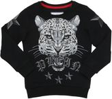 Leopard Printed Cotton Sweatshirt