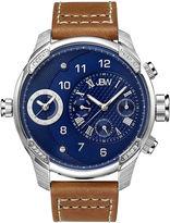 JBW G3 Mens Diamond-Accent Brown Leather Strap Watch J6325E