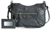 Balenciaga Hip Leather Crossbody Bag - Grey