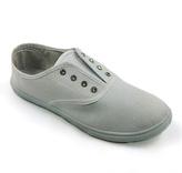 White Rhinestone Eyelet Slip-On Sneaker