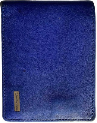 Calvin Klein Blue Leather Small bags, wallets & cases