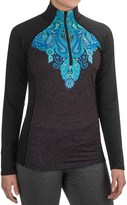 SnowAngel Snow Angel Veluxe Power Paisley Base Layer Top - Zip Neck, Long Sleeve (For Women)