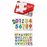 Melissa & Doug ABC And 123 Puzzle Keeper