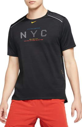 Nike Dri-FIT Miler NYC Performance Running T-Shirt