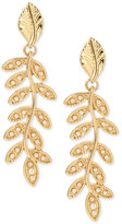 INC International Concepts M. Haskell for Gold-Tone Imitation Pearl Vine Drop Earrings, Only at Macy's