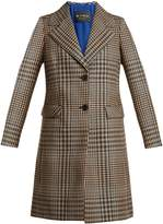 Etro Single-breasted Prince of Wales-checked wool coat