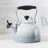 Crate & Barrel Chantal ® Vintage Grey Steel Enamel Tea Kettle