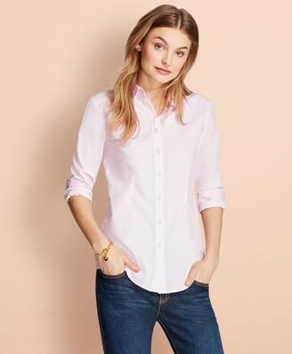 Brooks Brothers Striped Stretch Cotton Poplin Shirt