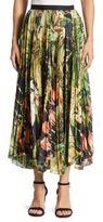 ADAM by Adam Lippes Pleated Printed Skirt