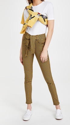 Scotch & Soda High-Rise Skinny Checked Pants